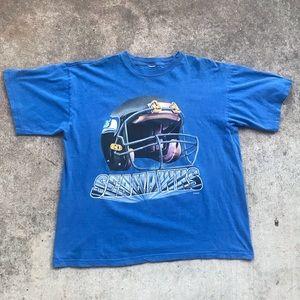 Vintage 1996 Seattle Seahawks Helmet T-Shirt